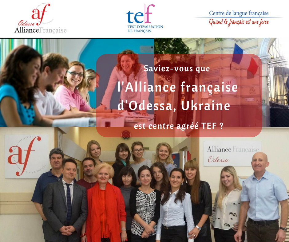 Alliance française d'Odessa, centre TEF
