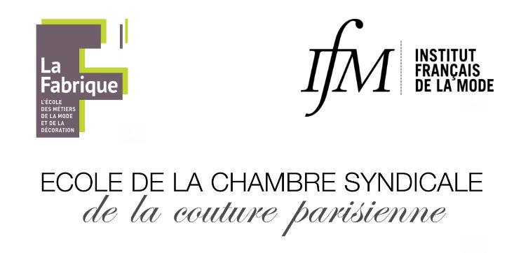 Logos recrutement Ecoles de mode