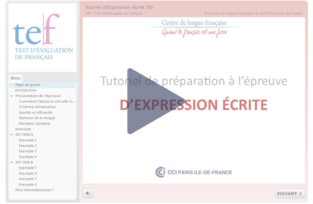 Les tutoriels pour se préparer au TEF - Le français des affaires