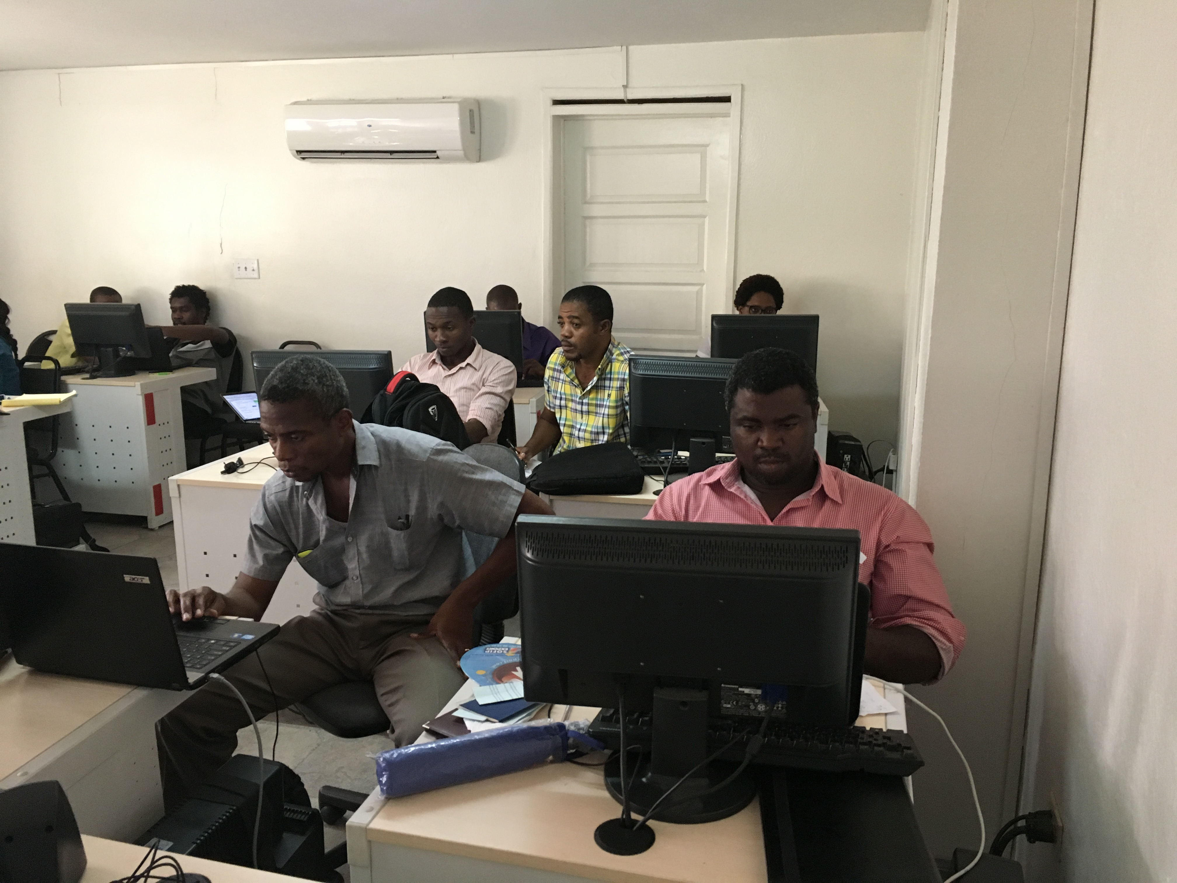 Atelier numérique de la cadre de la formation en Haïti