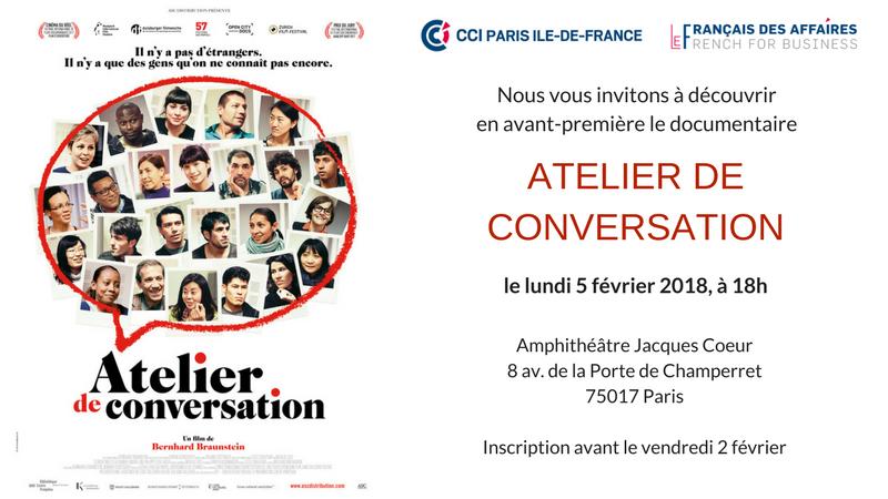 AVANT-PREMIERE Atelier de conversation