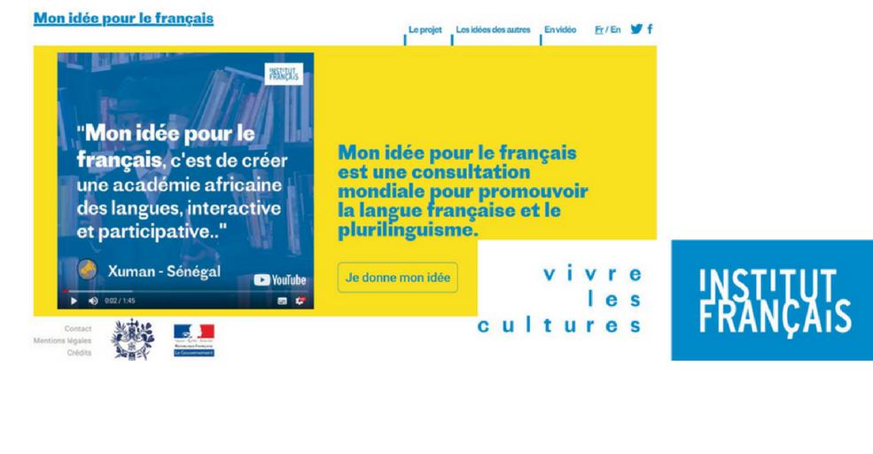 Participez à la consultation « Mon idée pour le français » !