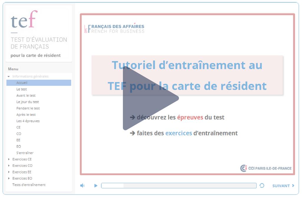 TEF Carte de résident - Le français des affaires