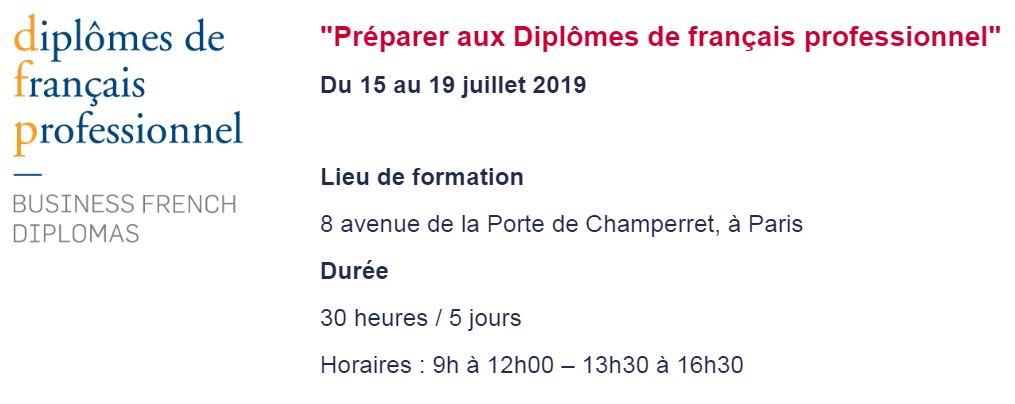 Préparer aux Diplômes de français professionnel