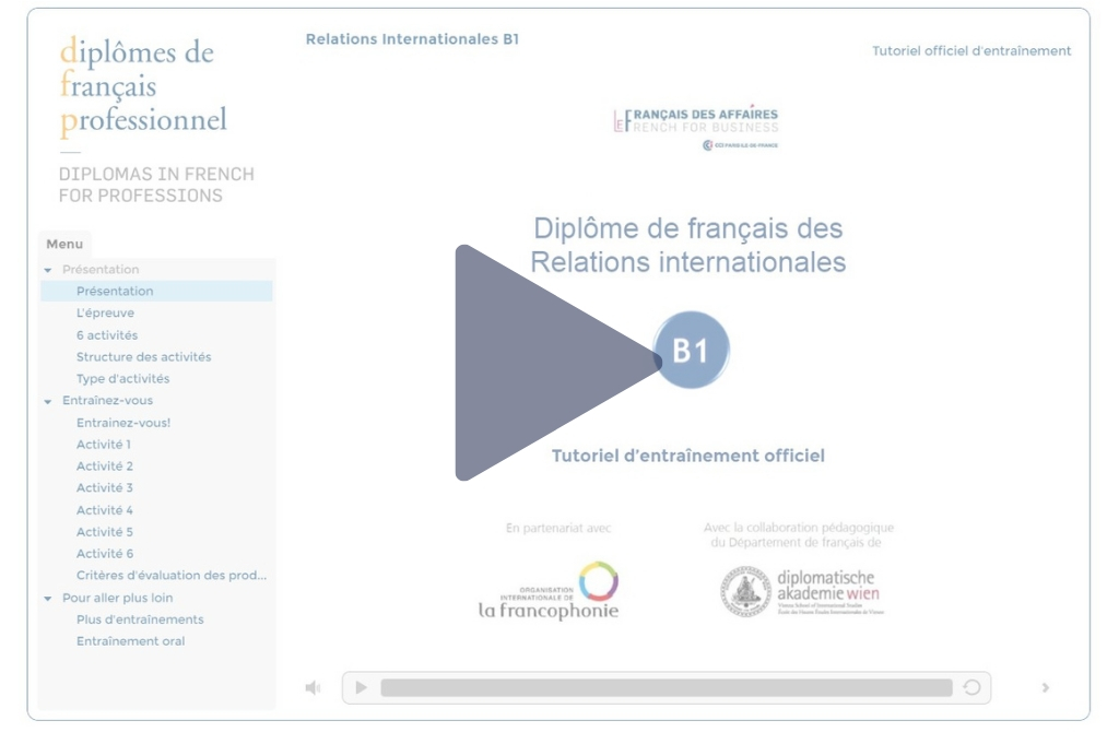 ressources diplôme de français professionnel