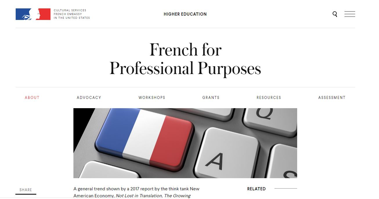 French for profession