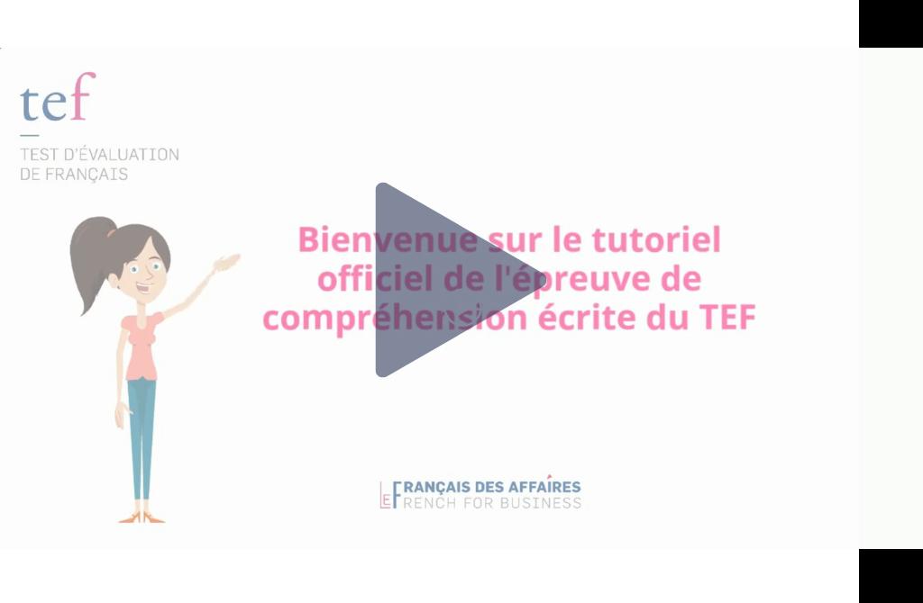 nouveaux tutoriels TEF