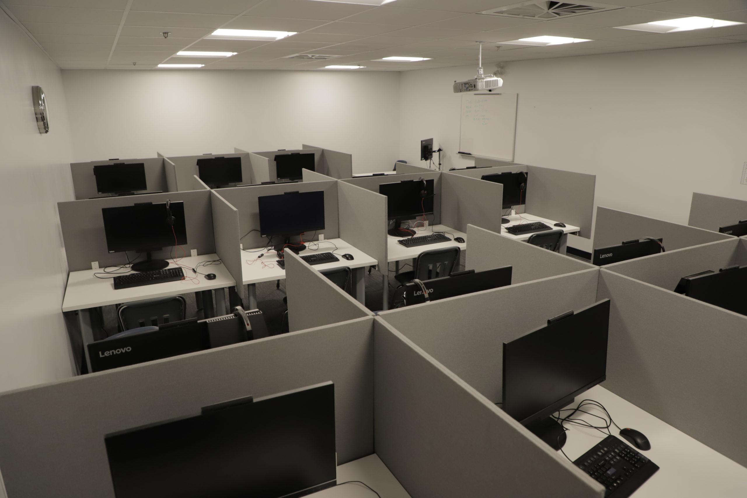 Salle numérique, passation examen